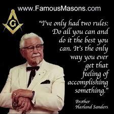 Bro. Sanders. | Famous freemasons, Freemason quotes, Freemason