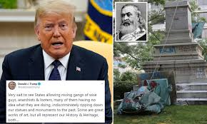 Trump 'personally ordered Confederate statue of Albert Pike to be put back  up' after it was toppled | Daily Mail Online